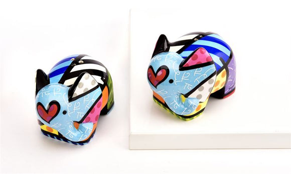 ROMERO BRITTO ELEPHANT SALT & PEPPER SHAKERS SET