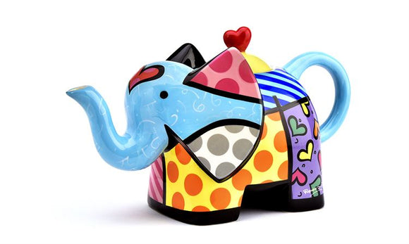 ROMERO BRITTO ELEPHANT SHAPED TEAPOT