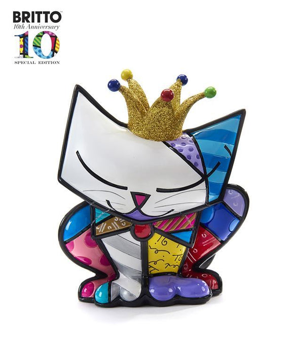 *NEW* ROMERO BRITTO ANNIVERSARY SUGAR CAT DESIGN FIGURINE