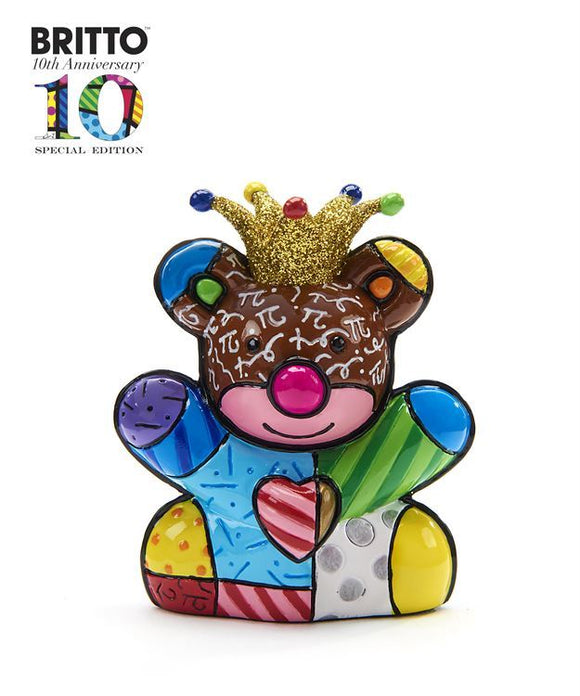 *NEW* ROMERO BRITTO ANNIVERSARY MINI/MINIATURE HAPPY BEAR DESIGN FIGURINE