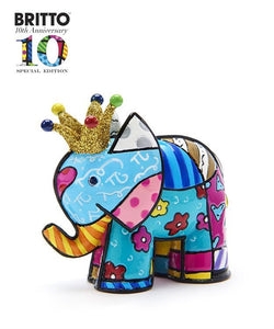 *NEW* ROMERO BRITTO ANNIVERSARY MINI/MINIATURE LUCKY ELEPHANT DESIGN FIGURINE