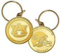 Auburn University Bronze Coin Keychain