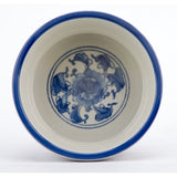 *New* Staffordshire Reproduction Blue And White Small Size Dog Bowl