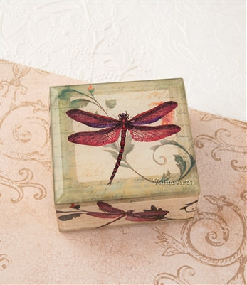 BURGUNDY DRAGONFLY KEEPSAKE BOX