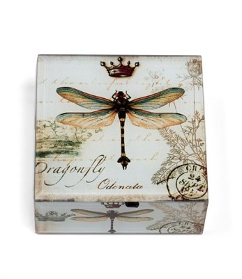 DRAGONFLY & CROWN TREASURE KEEPSAKE BOX
