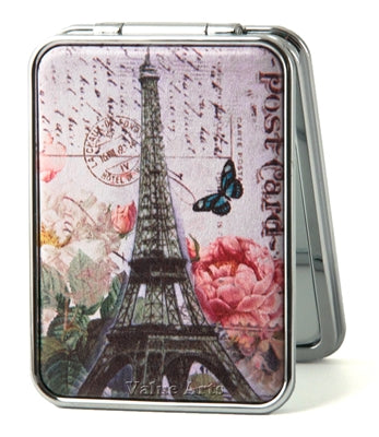 PARIS POST CARD TRAVEL MIRROR