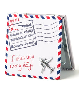 I MISS YOU EVERY DAY ENVELOP TRAVEL MIRROR