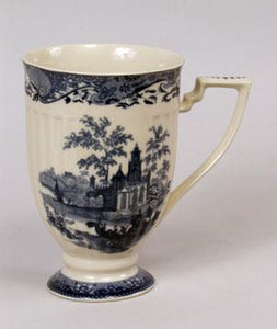 "Blue And White Ceramic 6"" Mug"