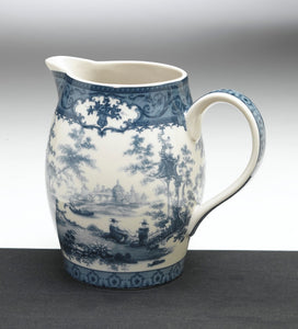 BLUE & WHITE CASTLE SCENE PITCHER 6""