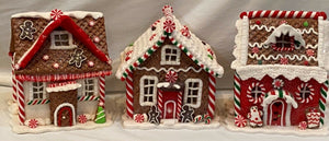 "5"" Lighted Christmas Houses Set of 3"