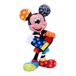 "ROMERO BRITTO DISNEY MICKEY MOUSE ""HOLDING A HEART"" MINI/MINIATURE FIGURINE"