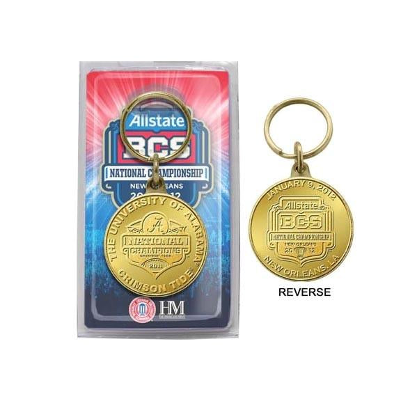 Alabama Crimson Tide 2017 Football National Champions Bronze Coin Keychain/ Key Chain