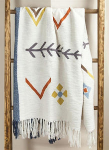 ARROWS COTTON EMBROIDERED THROW