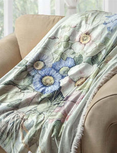 VINTAGE LINEN FUR BACKED FLEECE BLANKET