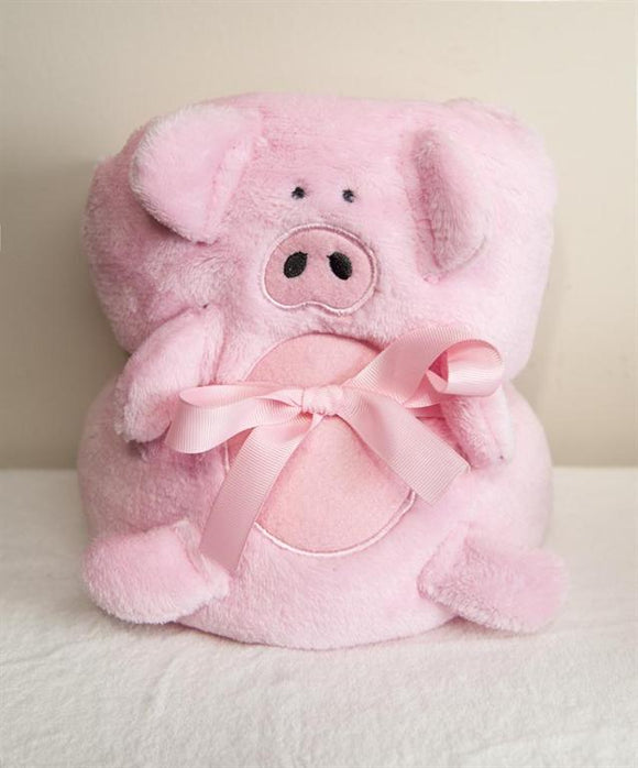 PIG FLEECE ROLL UP BLANKET