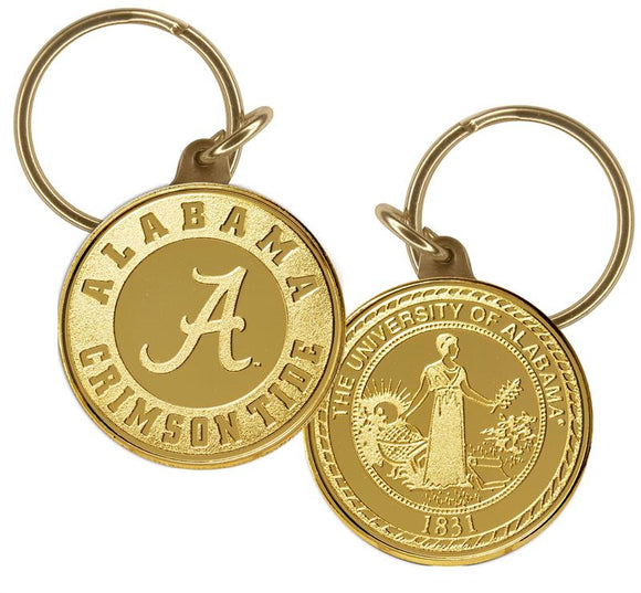 University of Alabama Bronze Coin Keychain/ Key Chain