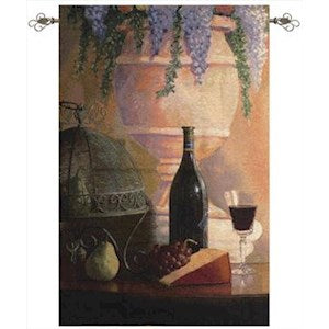AN ELEGANT AFTERNOON GRANDE' TAPESTRY WALL HANGING