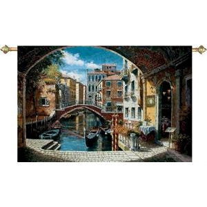 ARCHWAY TO VENICE GRANDE' TAPESTRY WALL HANGING