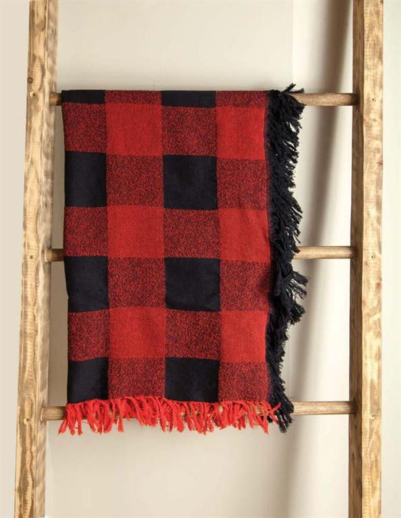 *NEW* BUFFALO CHECK PLEASE RED DAMASK THROW