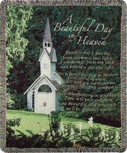 A BEAUTIFUL DAY IN HEAVEN TAPESTRY THROW