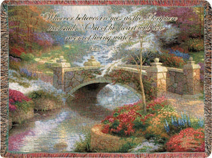 BRIDGE OF HOPE- THOMAS KINKADE TAPESTRY THROW