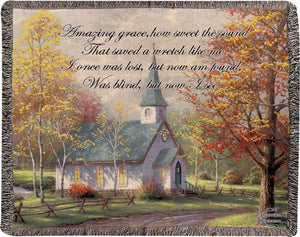 THE ASPEN CHAPEL- THOMAS KINKADE TAPESTRY THROW