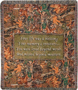 NATURE BLESSINGS TAPESTRY THROW