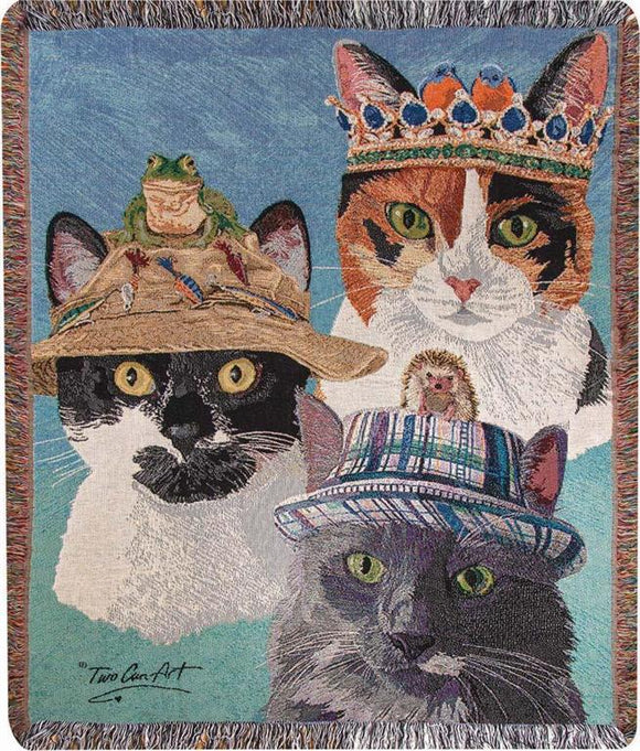 *NEW* CATS IN HATS TAPESTRY THROW