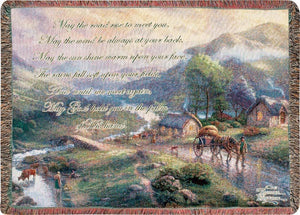 EMERALD VALLEY- THOMAS KINKADE TAPESTRY THROW