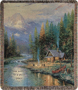 END OF A PERFECT DAY- THOMAS KINKADE TAPESTRY THROW