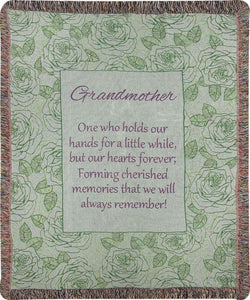 GRANDMOTHER...HOLDS OUR HANDS TAPESTRY THROW