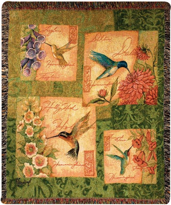 *New* Wings And Blossoms Tapestry Throw