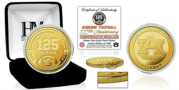 Auburn University Football 125th Anniversary Gold Mint Coin