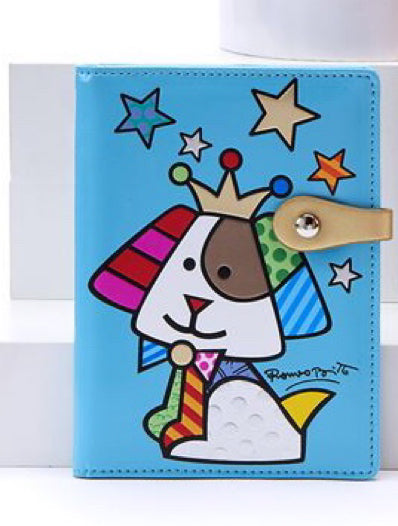 *NEW* ROMERO BRITTO ANNIVERSARY PASSPORT HOLDER WITH DOG