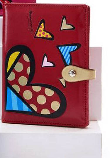 *NEW* ROMERO BRITTO ANNIVERSARY PASSPORT HOLDER WITH HEARTS