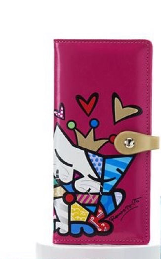 *NEW* ROMERO BRITTO ANNIVERSARY CLUTCH WALLET WITH CAT