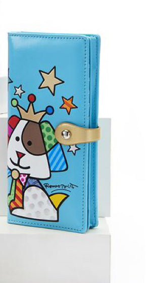 *NEW* ROMERO BRITTO ANNIVERSARY CLUTCH WALLET WITH DOG