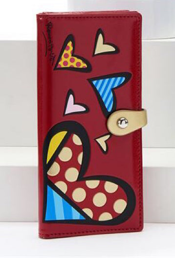 *NEW* ROMERO BRITTO ANNIVERSARY CLUTCH WALLET WITH HEARTS