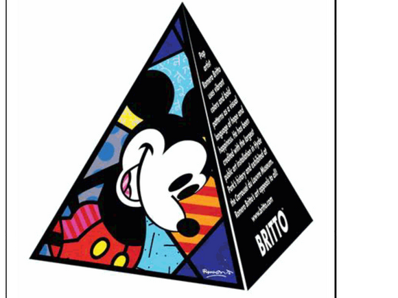 ROMERO BRITTO DISNEY MICKEY DEALER SHELF SITTER DISPLAY