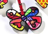 ROMERO BRITTO BUTTERFLY LUGGAGE/BACKPACK ID TAG