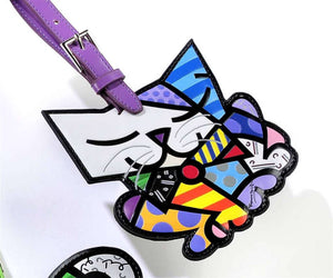 ROMERO BRITTO CAT LUGGAGE/BACKPACK ID TAG