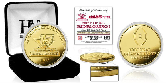 Alabama Crimson Tide 2017 Football National Champions Gold Mint Coin