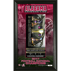Alabama 2017 Football National Champions Ticket Pano