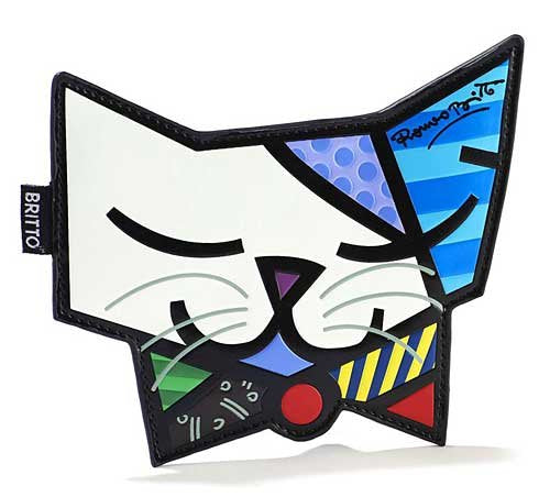 ROMERO BRITTO CAT CHANGE PURSE