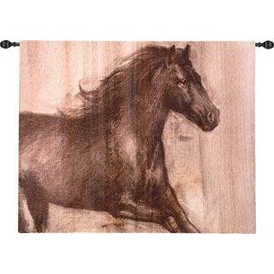 DYNAMIC STALLION GRANDE' TAPESTRY WALL HANGING