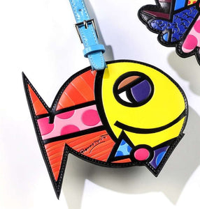 ROMERO BRITTO FISH LUGGAGE/BACKPACK ID TAG
