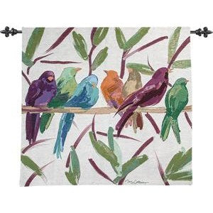 FLOCKED TOGETHER GRANDE' TAPESTRY WALL HANGING