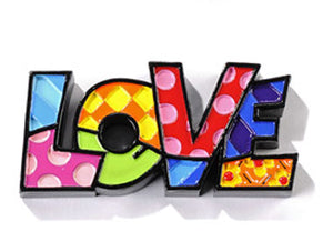 "ROMERO BRITTO MINI ""LOVE"" WORD ART"