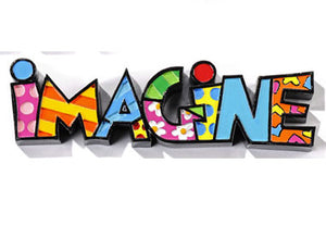 "ROMERO BRITTO MINI ""IMAGINE"" WORD ART"