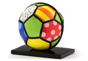 ROMERO BRITTO SOCCER BALL FIGURINE